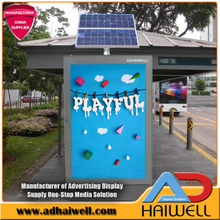 Solar Powered Bus Stop folheados Signage